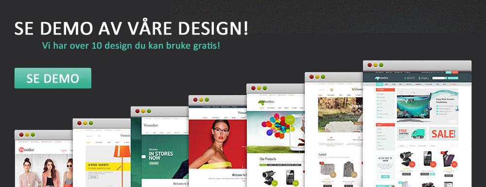 1Nettbutikk demo design